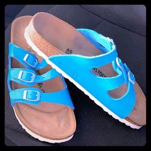 Shoes - Electric blue Birkenstocks